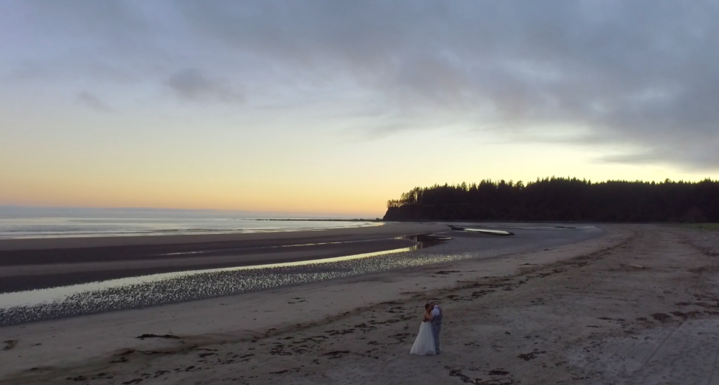 Beach wedding videographer