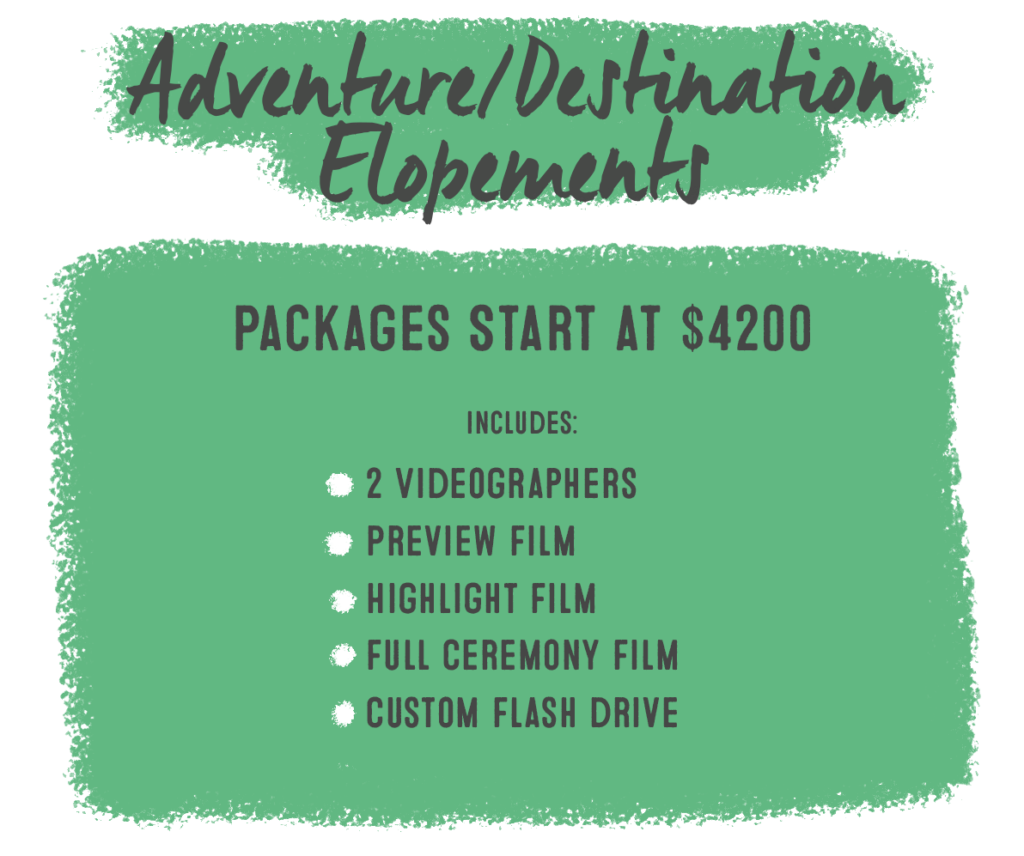 2022 elopement packages video